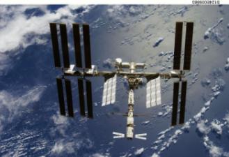 L'ATV amarré à la  Station Spatiale Internationale. © NASA/JSC/, 2008